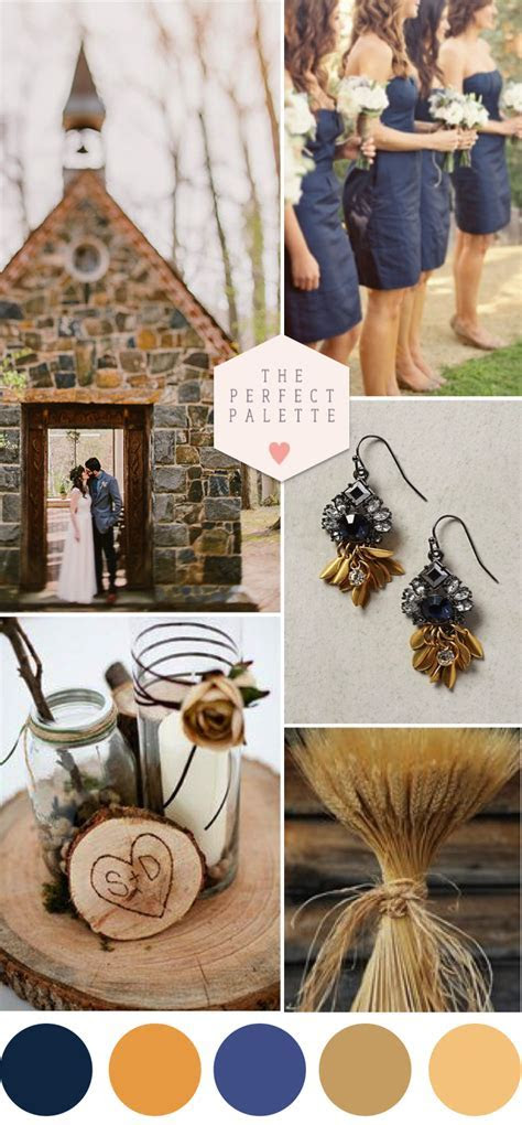 Color Story: Blue and Brown   COLOR STORIES   Wedding