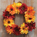 Harvest Mum Fall Floral Wreath