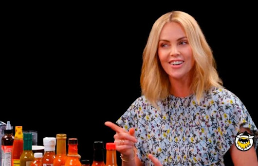 Watch Charlize Theron Swearing And Eating Hot Wings | FizX