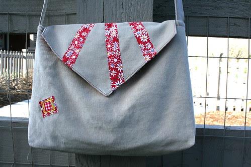 Corduroy Envelope Bag