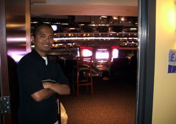 Posing in the luxury suite that I watched Game 3 in at STAPLES Center.