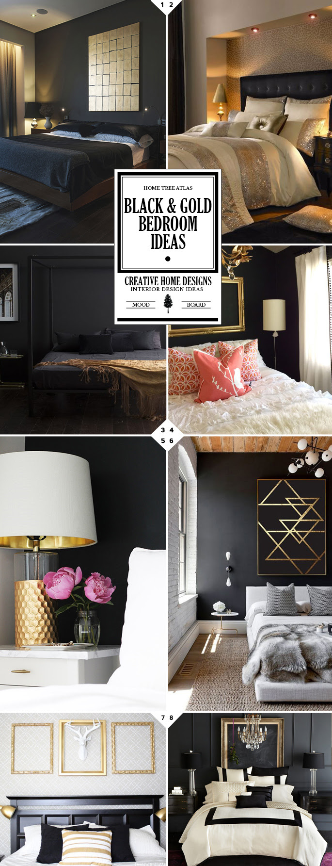 Style Guide: Black and Gold Bedroom Ideas | Home Tree Atlas