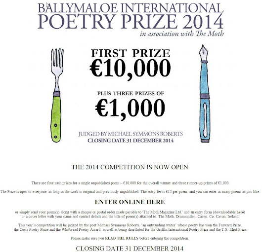 Ballymaloe Poetry Prize 2014