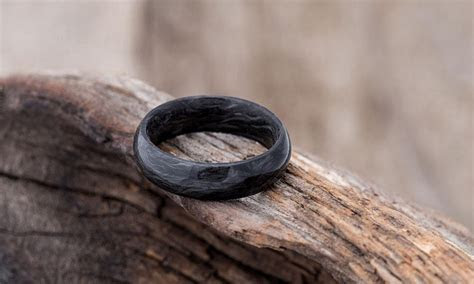 Forged Carbon Fiber Wedding Band   Cool Material