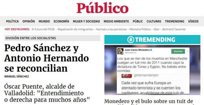Portada de Público del 26/05/2017