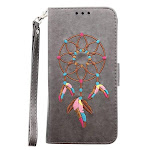 Samsung Galaxy S9 - Samsung Galaxy S9 Embroidered Dreamcatcher RFID Wallet with Detachable Matching Case and Wristlet, Gray