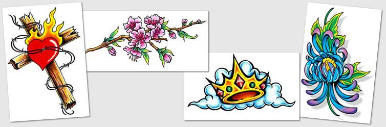 Tattoo Designs Symbols Crown Cross Celtic Cherry Tattoos
