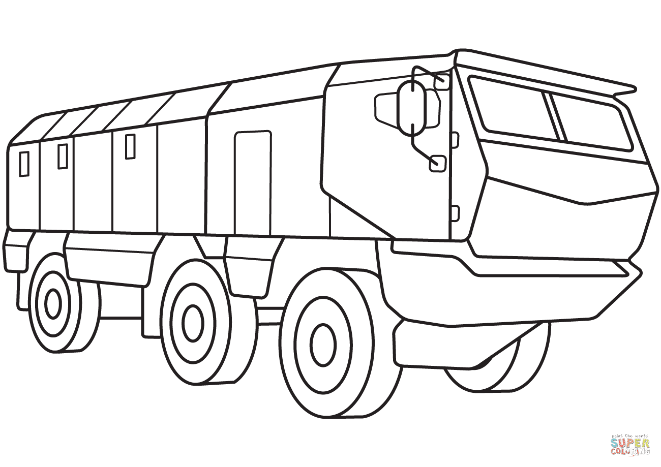 Armored Personnel Carrier coloring page | Free Printable ...