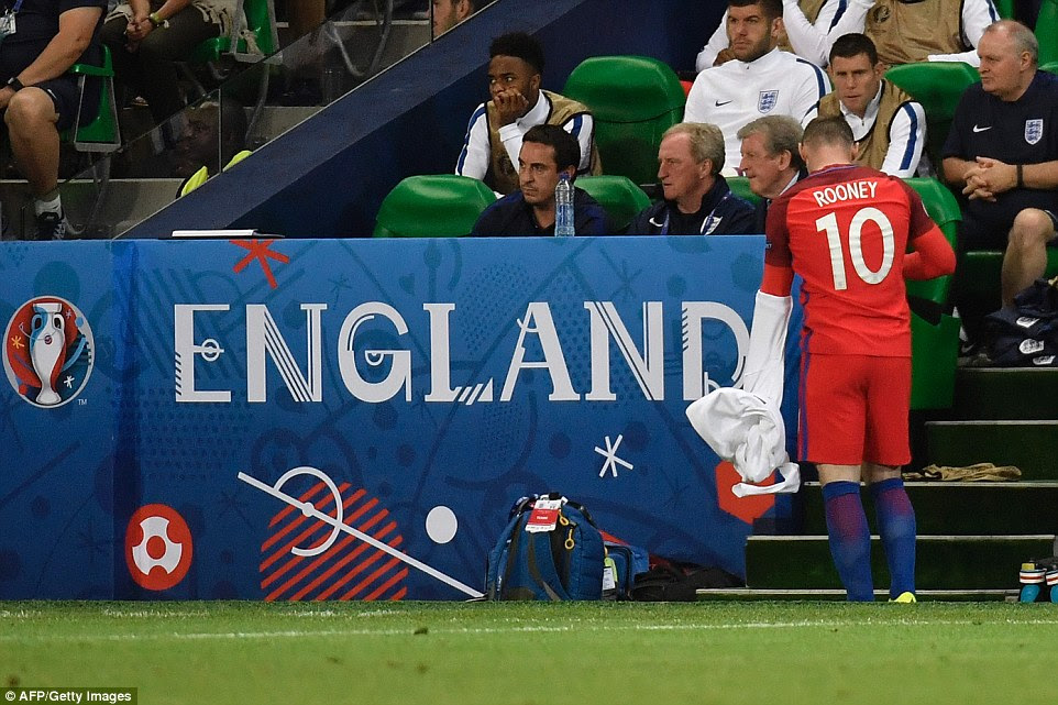 Rooney was introduced in the second period as Hodgson tried to inspire his side to find a winning goal
