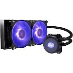 Cooler Master MasterLiquid ML240L RGB Close-Loop CPU Liquid Cooler, 240mm Radiator, Dual Chamber RGB Pump, Dual MF120R RGB Fans With RGB Lighting Sync