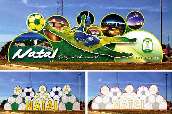 Proposta da arte para o painel instalado no viaduto de Ponta Negra foi postada no Facebook