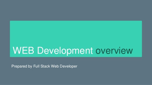 Web development overview
