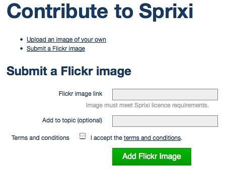 Sprixi - contribute via Flickr