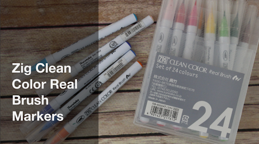Zig Clean Color Real Brush Markers - Craft Test Dummies