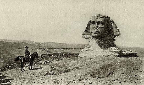 Jean-León Gérôme's imaginary vision of Napoleon facing the Sphinx.