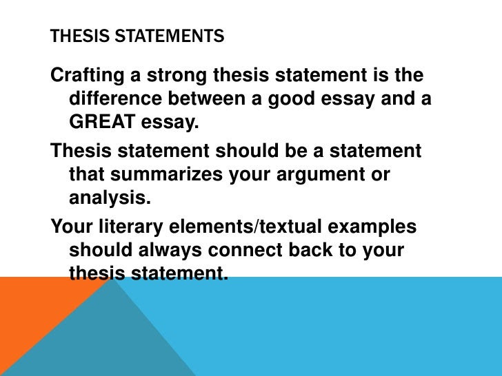 a good thesis statement for taking risks