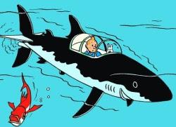 Tintin i sin ubåt