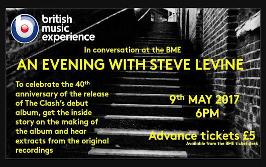 An Evening With Steve Levine | 40 Years of The Clash | British Music Experience Liverpool | Atrium Talent - An International Talent Booking Agency