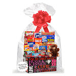 Cakesupplyshop Valentines Day Thinking of You Cookies, Candy & More Care Package Snack Gift Box Bundle Set