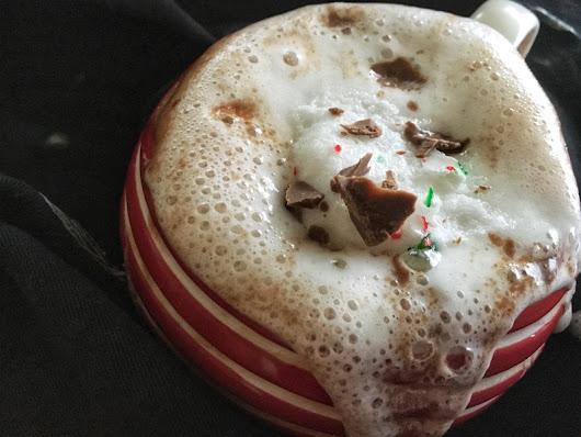 Eggnog Hot Chocolate | Busy Little Bee