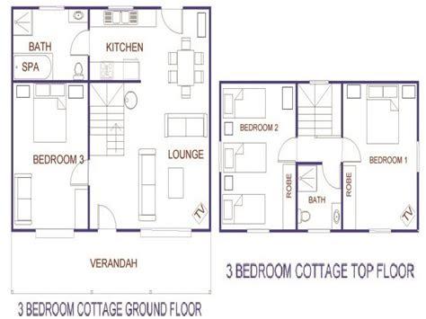 bedroom ranch cottage  bedroom cottage house plans