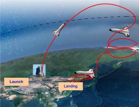 Avião espacial chinês levará 20 turistas ao espaço