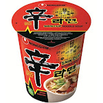 Nongshim Noodle Soup, Shin Cup, Gourmet Spicy - 2.64 oz cup