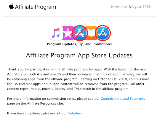 Apple's Termination of App Store Affiliate Payments Is Unnecessary, Mean-Spirited, and Harmful - TidBITS