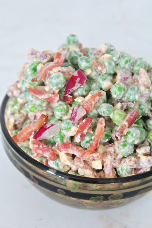 Peas Bacon Salad With Feta Cheese And Paprika