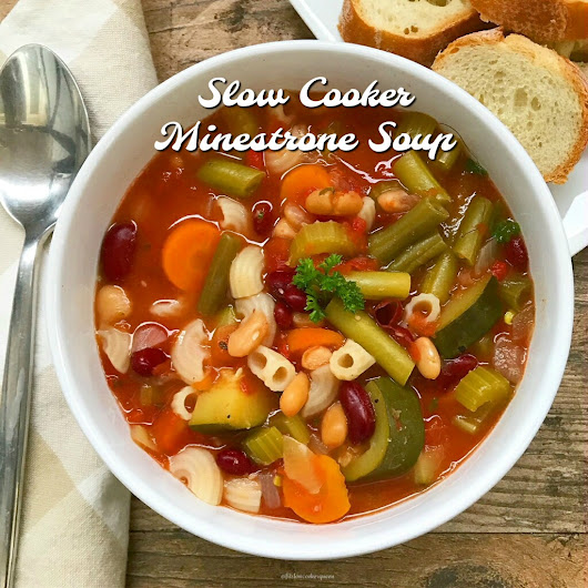 Slow Cooker Minestrone Soup - Fit SlowCooker Queen