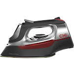 CHI Electronic Iron With Retractable Cord, Grey/Red