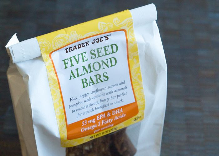 trader joe's five seed almond bars review : part of a weekly review series of tj's desserts and treats
