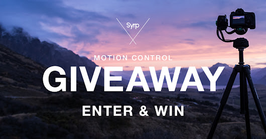 WIN 1 of 3 Syrp Motion Control Prize packs worth $1200+