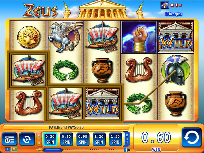Zeus casino slot machine