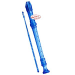 D'Luca Student 3 Piece Recorder Flute Blue