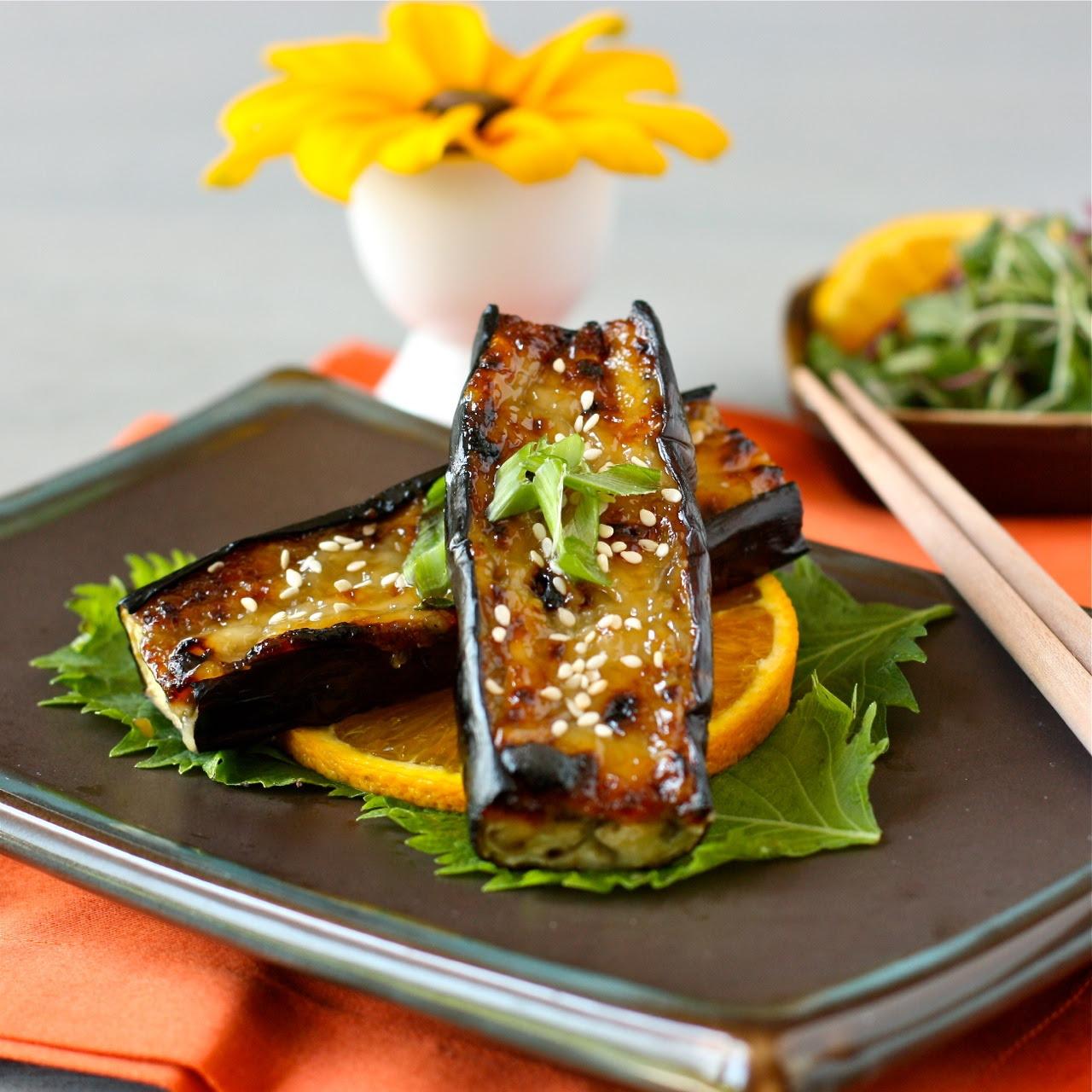 miso-glazed japanese eggplant | daisy's world