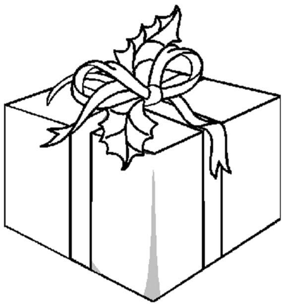 Cadeau De Noël à Colorier