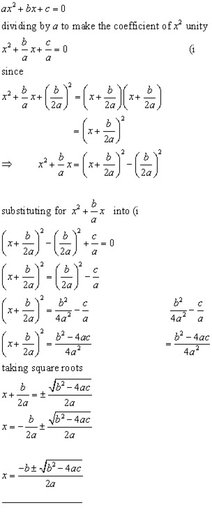 Quadratic Equations Algebra From A Level Maths Tutor