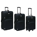 Travelers Club Luggage EVA-80003-001 Genova Collection- 3 Piece Expandable Travelers Set in Black