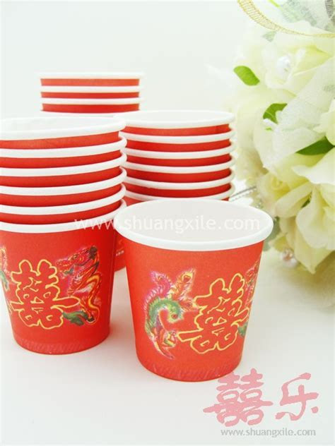 Mini Red Paper Cup   Wedding Day > Practical Items