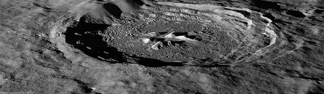 Oblique view of Hayn crater (LROC NAC)