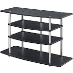 Convenience Concepts 141031BL Designs2Go No Tools Wide Highboy TV Stand Black - 42 x 28 x 15.75 in.