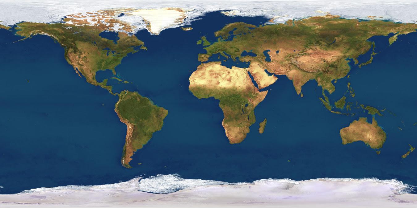 Satellite Imagemap of the World - 1,000 meter resolution ...