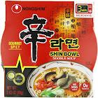 Nong Shim Shin Bowl Noodle Soup, Gourmet Spicy - 12 pack, 3.03 oz bowls