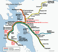 Bay Area Rapid Transit System map (BART)
