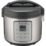 Instant - Zest 20 Cup Rice and Grain Cooker - Stainless Steel/Silver