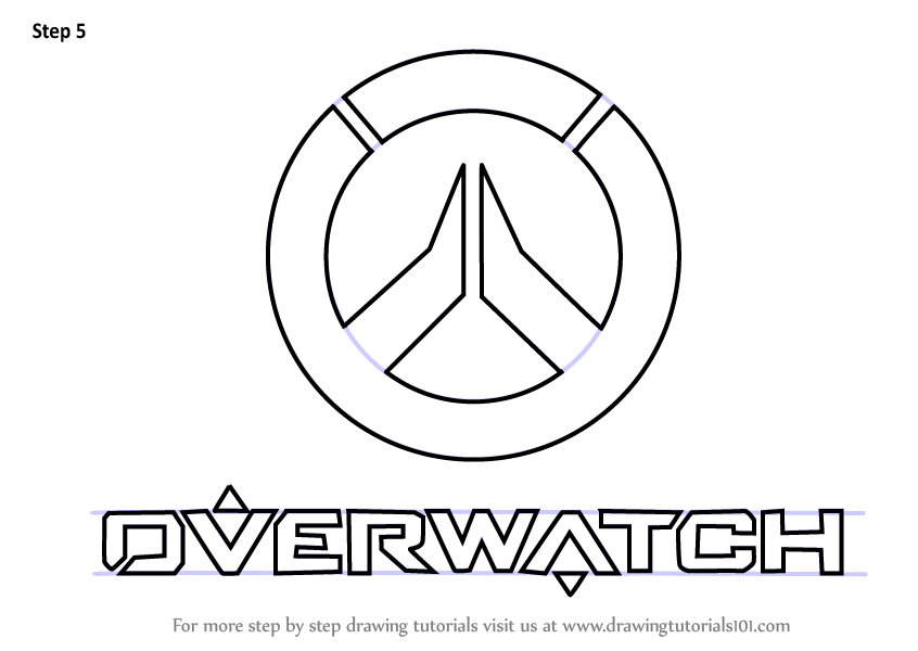 Learn How to Draw Overwatch Logo (Overwatch) Step by Step ...