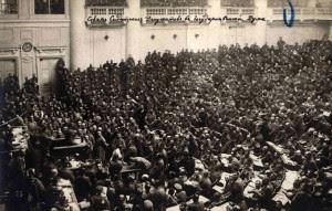 Συνεδρίαση του Σοβιέτ της Πετρούπολης τον Οκτώβρη του 1917