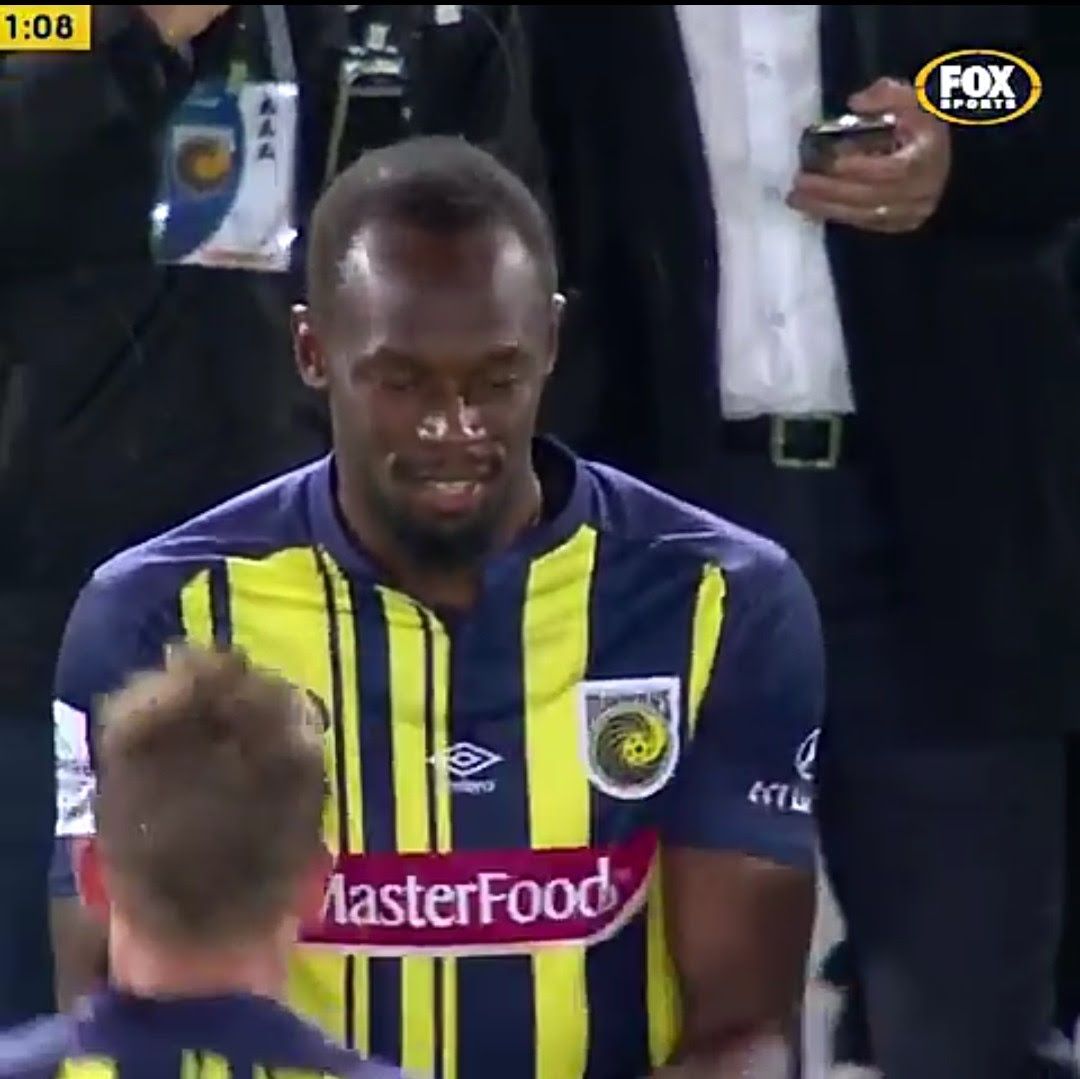 Usain Bolt Plays For Central Coast Mariners FC (Photos)