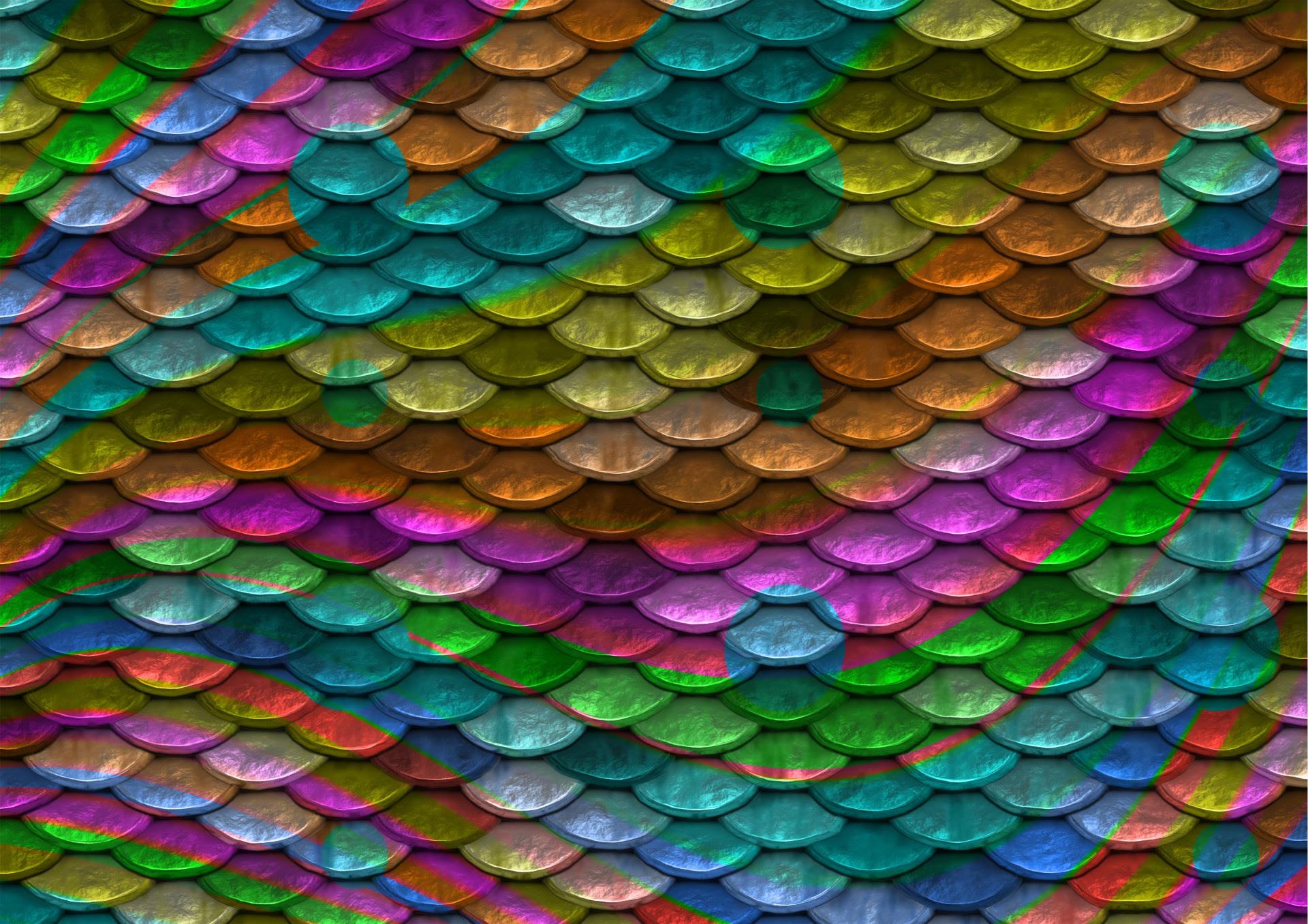scales backround rainbow colors